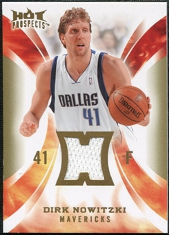 2008/09 Upper Deck Hot Prospects Hot Materials #HMDN Dirk Nowitzki