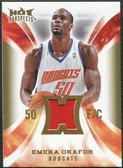 2008/09 Upper Deck Hot Prospects Hot Materials #HMEO Emeka Okafor