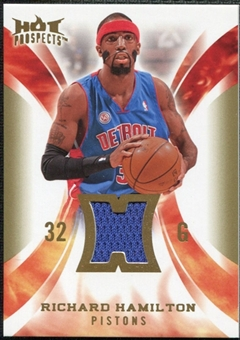 2008/09 Upper Deck Hot Prospects Hot Materials #HMRH Richard Hamilton