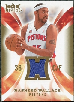 2008/09 Upper Deck Hot Prospects Hot Materials #HMRW Rasheed Wallace