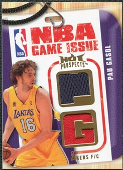2008/09 Upper Deck Hot Prospects NBA Game Issue Jerseys #NBAPG Pau Gasol /149