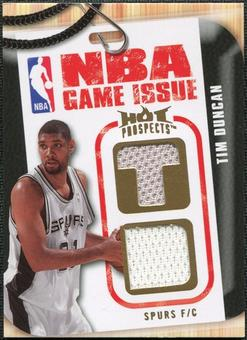 2008/09 Upper Deck Hot Prospects NBA Game Issue Jerseys #NBATD Tim Duncan 129/149