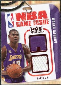 2008/09 Upper Deck Hot Prospects NBA Game Issue Jerseys Red #NBAAB Andrew Bynum 02/25