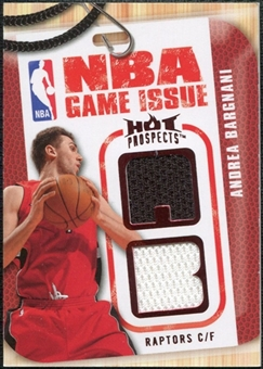 2008/09 Upper Deck Hot Prospects NBA Game Issue Jerseys Red #NBABA Andrea Bargnani 14/25