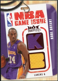 2008/09 Upper Deck Hot Prospects NBA Game Issue Jerseys Red #NBAKB Kobe Bryant /25