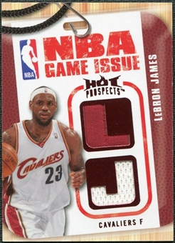 2008/09 Upper Deck Hot Prospects NBA Game Issue Jerseys Red #NBALJ LeBron James 17/25