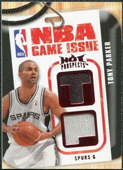 2008/09 Upper Deck Hot Prospects NBA Game Issue Jerseys Red #NBATP Tony Parker 01/25