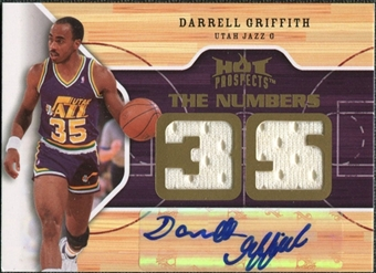 2008/09 Upper Deck Hot Prospects Numbers Game Autographs Jerseys #NGGR Darrell Griffith Autograph /35