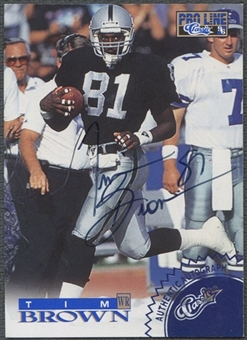 1996 Pro Line #7 Tim Brown Blue Auto