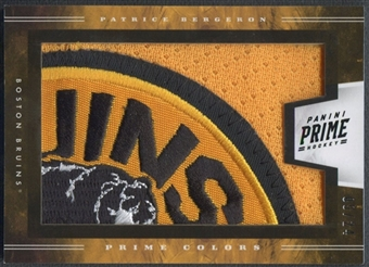 2011/12 Panini Prime #5 Patrice Bergeron Prime Colors Patch Horizontal #09/24