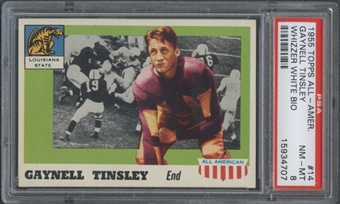 1955 Topps All American #14 Gaynell Tinsley (Whizzer White Bio) PSA 8 *4707