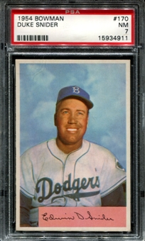 1954 Bowman Baseball #170 Duke Snider PSA 7 (NM) *4911