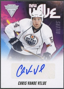 2011/12 Panini Titanium #16 Chris Vande Velde New Wave Auto
