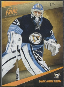 2011/12 Panini Prime #75 Marc-Andre Fleury Gold #2/5