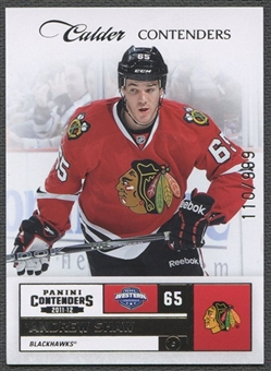 2011/12 Panini Contenders #261 Andrew Shaw Rookie #110/999