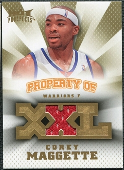 2008/09 Upper Deck Hot Prospects Property of Jerseys #POMG Corey Maggette /199