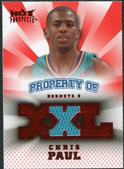 2008/09 Upper Deck Hot Prospects Property of Jerseys Red #POCP Chris Paul /25