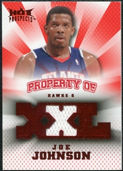 2008/09 Upper Deck Hot Prospects Property of Jerseys Red #POJJ Joe Johnson /25