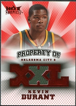 2008/09 Upper Deck Hot Prospects Property of Jerseys Red #POKD Kevin Durant /25