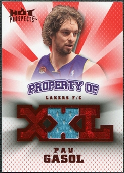2008/09 Upper Deck Hot Prospects Property of Jerseys Red #POPG Pau Gasol /25