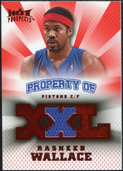 2008/09 Upper Deck Hot Prospects Property of Jerseys Red #PORW Rasheed Wallace 18/25
