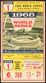 1968 World Series Ticket Stub Detroit Tigers vs St Louis Cardinals Game 1