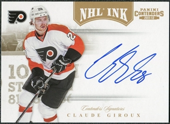 2011/12 Panini Contenders NHL Ink Gold #46 Claude Giroux Autograph /25