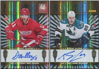 2011/12 Panini Elite Passing the Torch Autographs #16 Ryane Clowe/Danny Cleary Autograph /100