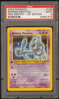Pokemon Neo Destiny 1st Edition Single Shining Mewtwo 109/105 - PSA 9