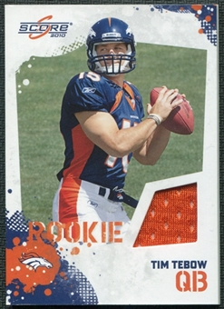2010 Panini Score Retail Factory Set Rookie Jerseys #2 Tim Tebow