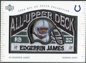 2003 UD Patch Collection All Upper Deck Patches #UD1 Edgerrin James