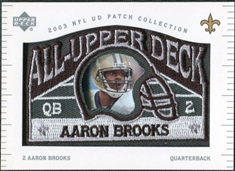 2003 UD Patch Collection All Upper Deck Patches #UD2 Aaron Brooks