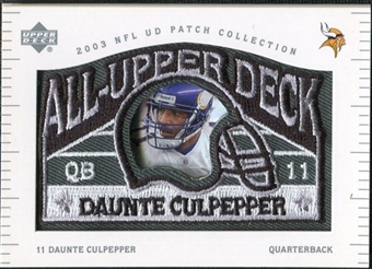 2003 UD Patch Collection All Upper Deck Patches #UD8 Daunte Culpepper