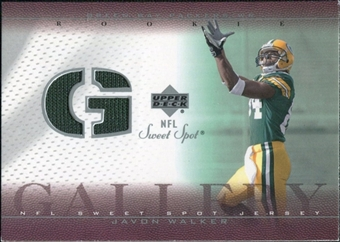 2002 Upper Deck Sweet Spot Rookie Gallery Jersey #RGJW Javon Walker