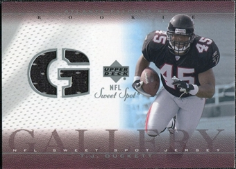 2002 Upper Deck Sweet Spot Rookie Gallery Jersey #RGTJ T.J. Duckett