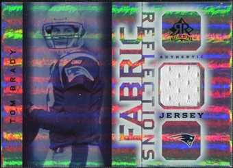 2005 Upper Deck Reflections Fabrics #FRTB Tom Brady
