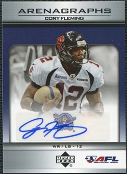 2006 Upper Deck AFL Arenagraphs #CF Cory Fleming Autograph