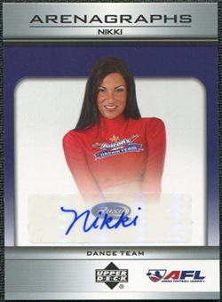 2006 Upper Deck AFL Arenagraphs #DNI Dancer: Nikki Autograph