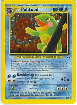 Pokemon Neo Discovery Single Politoed 8/75