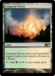 Magic the Gathering 2012 Single Sunpetal Grove FOIL
