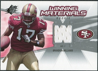 2006 Upper Deck SPx Rookie Winning Materials #WMRBW Brandon Williams