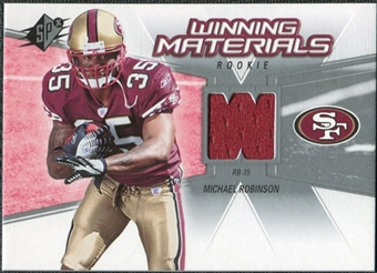 2006 Upper Deck SPx Rookie Winning Materials #WMRMR Michael Robinson