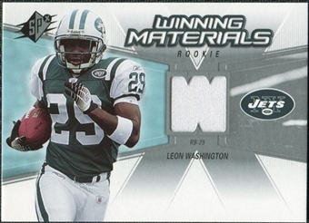 2006 Upper Deck SPx Rookie Winning Materials #WMRWA Leon Washington
