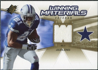 2006 Upper Deck SPx Winning Materials #WMVJJ Julius Jones