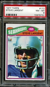1977 Topps Football #177 Steve Largent Rookie PSA 8 (NM-MT) *9750