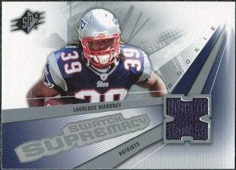 2006 Upper Deck SPx Rookie Swatch Supremacy #SWLM Laurence Maroney