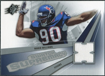 2006 Upper Deck SPx Rookie Swatch Supremacy #SWMW Mario Williams
