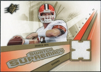 2006 Upper Deck SPx Swatch Supremacy #SWCF Charlie Frye