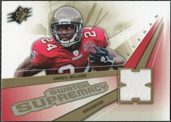 2006 Upper Deck SPx Swatch Supremacy #SWCW Cadillac Williams