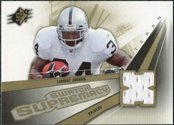 2006 Upper Deck SPx Swatch Supremacy #SWLJ LaMont Jordan